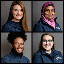 A composite image of headshots of four of our Student Ambassadors.