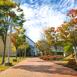 The Abromson Community Education Center in the fall