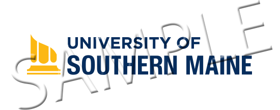 Sample University of Southern Maine classic logo