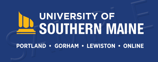 USM Logo Reverse with Gold