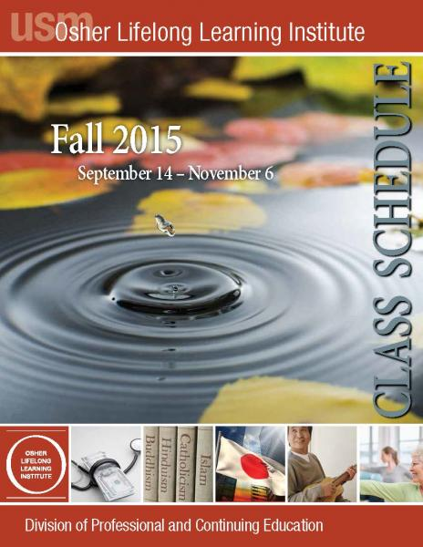 OLLI Fall 2015 Catalog Cover