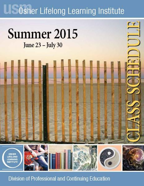 OLLI Summer 2015 Catalog cover