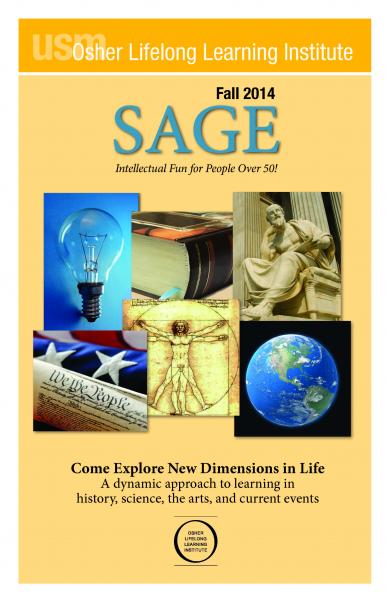 SAGE Fall 2014 Brochure Cover
