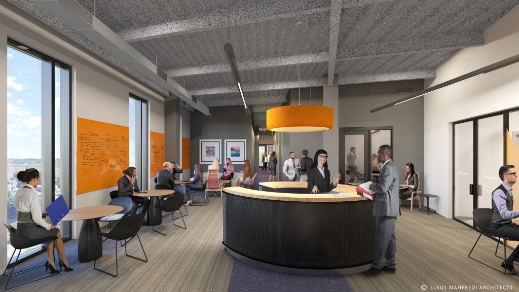 Rendering of the future Career & Student Success Center.