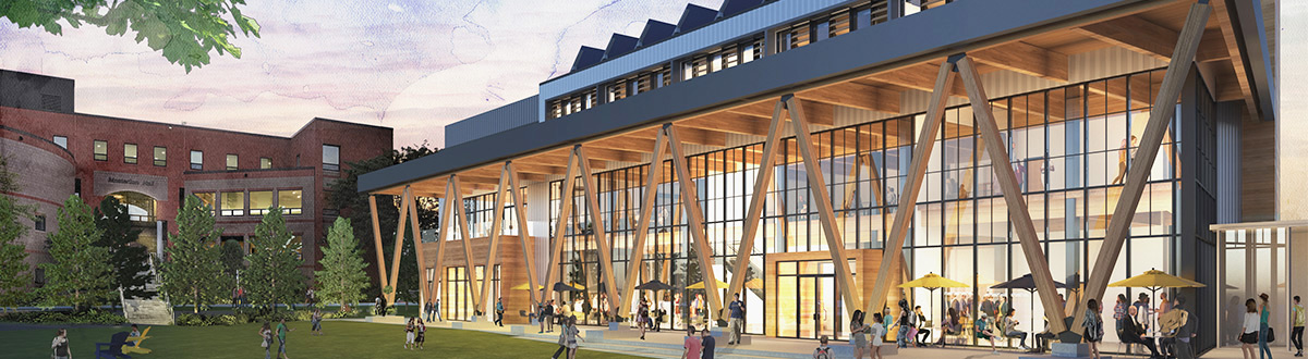 An architectural rendering of the new Career & Student Success Center