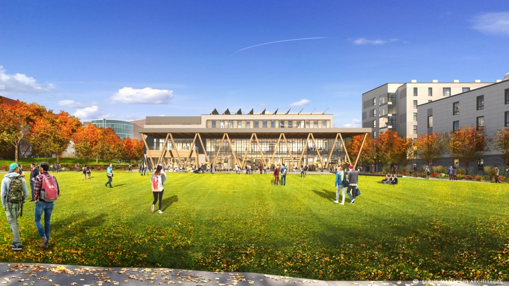 Rendering of the future Residential Quad.