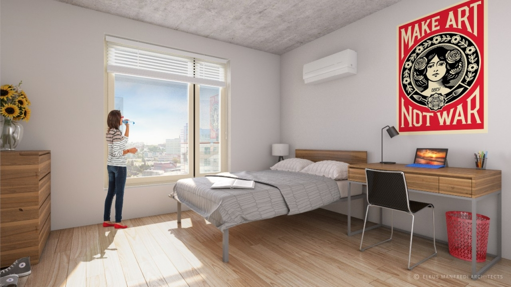 A rendering of the future Portland Commons Residence Hall