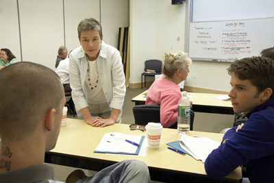 Instructor Judy Ringer in the classroom
