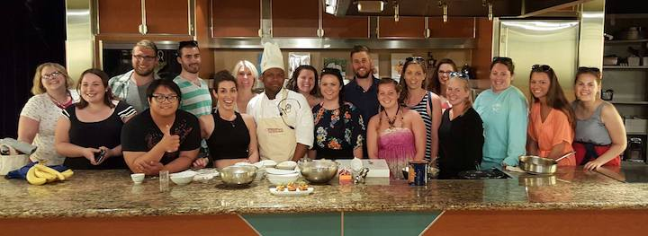2016 TAH students with Bermudan chef Jaelen Steede