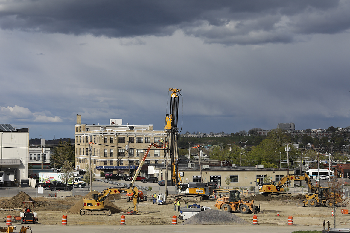 An image of the USM construction site taken on May 11, 2021