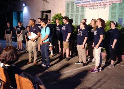 Chamber Singers perform at orphanage in Vietnam