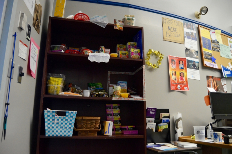 Photo of the Husky Hunger Initiative food Pantry located in the well