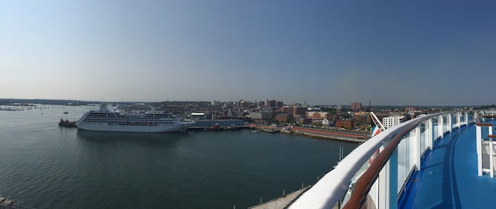 View from the Anthem of the Seas of Portland harbor