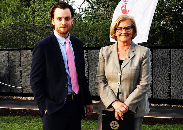 Rob McCann with Rep. Chellie Pingree