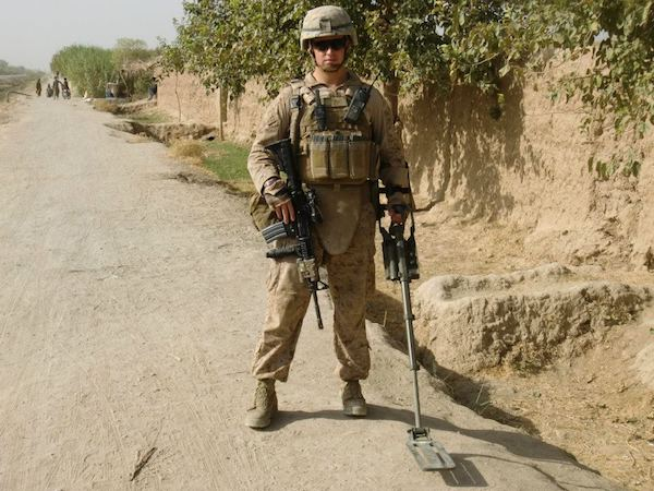 Rob McCann in Afghanistan