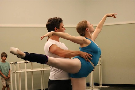 Dancers Veronica Druchniak and Michael Hamilton