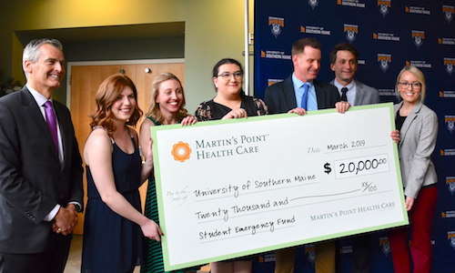 Martin's Point presents check to USM