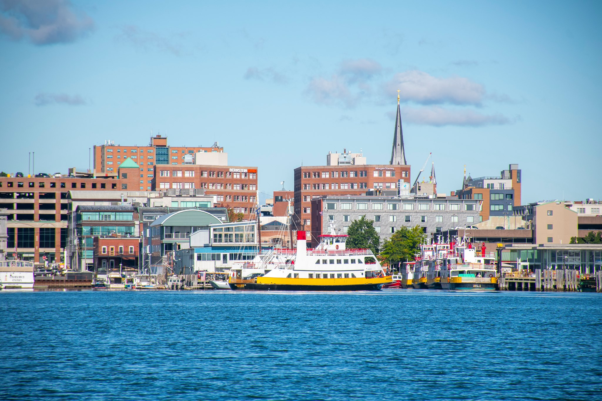 A photo of the Old Port skyline in Portland