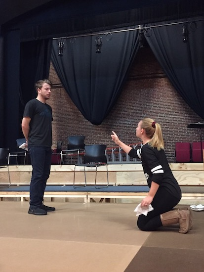 Theatre students rehearsing