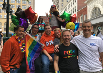 USM students, staff, Pres Cummings at 2017 Pride