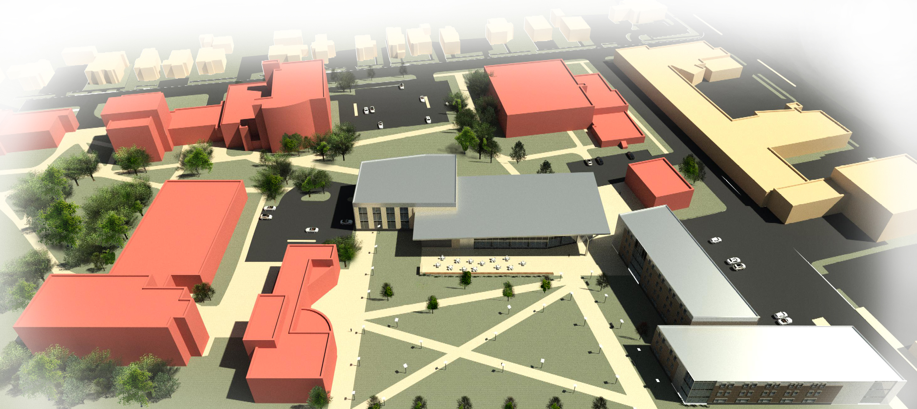 Artist rendering of the Portland Campus of USM