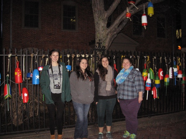 Images of students with buoys