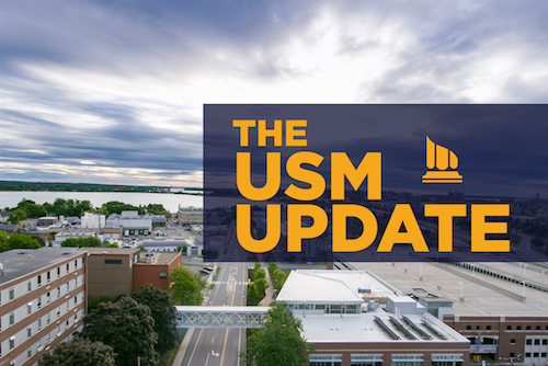 The USM Update title screen