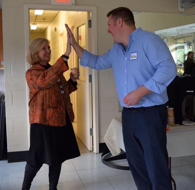 Diane Geyer and Andrew Kiezulas celebrate the Grand Opening of the ROCC