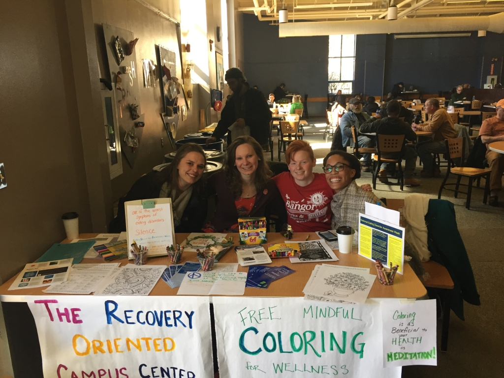 ROCC Peers Tabling for Eating Disorder Awareness March 2017