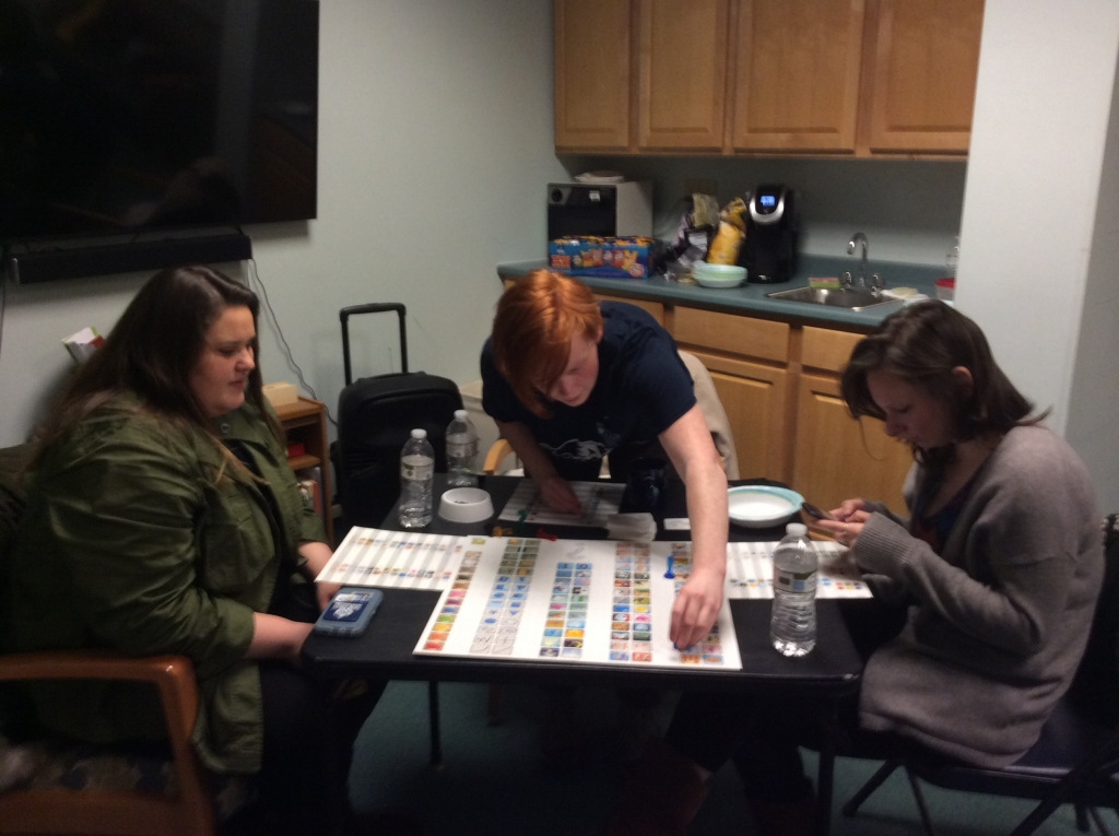 Peers enjoy the first Game Night at the ROCC