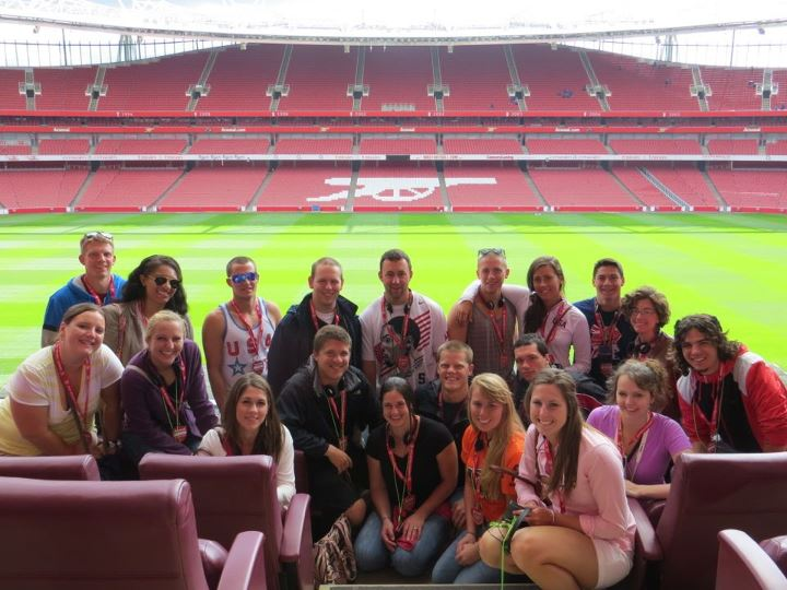 Group photo at Emirates Stadium, home of the Arsenal Football Club