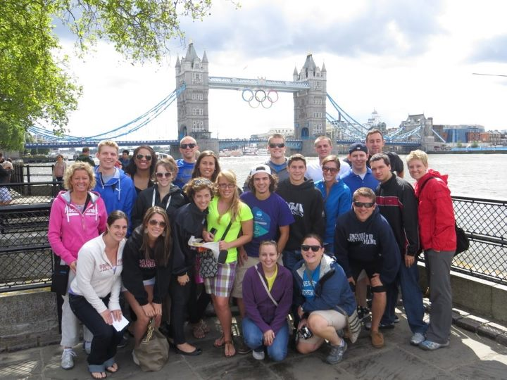 Group photo in front of London Tower Bridge