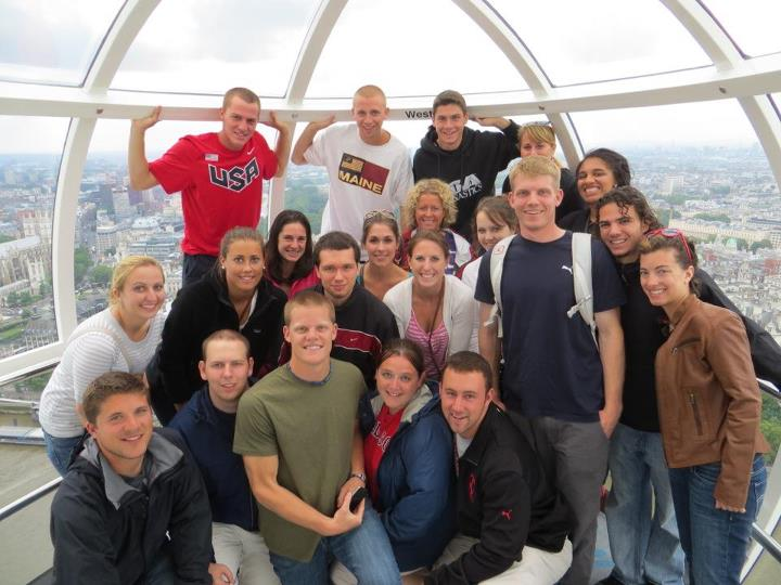 Students taking a ride on the London Eye