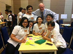 Bill Hiss and High School Students in Vietnam