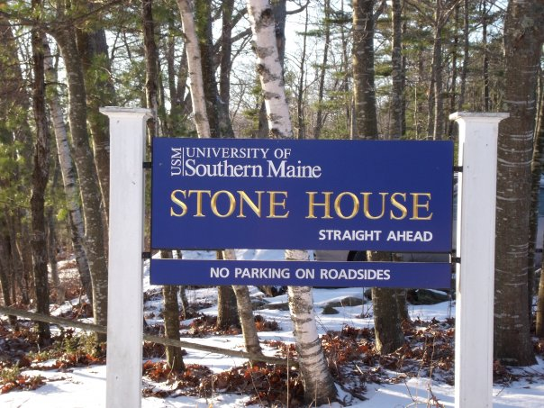 Sign at Entrance of USM's Stone House