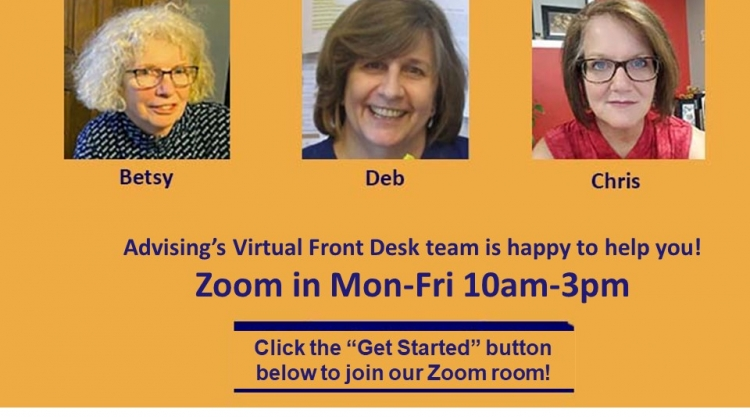 Advising's Virtual Front Desk team