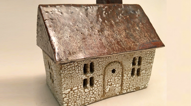 Ceramic House Container by Monica Danforth