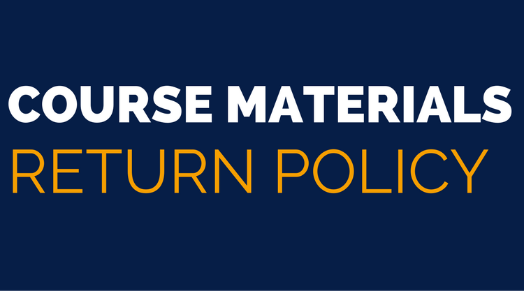 Course Materials Return Policy