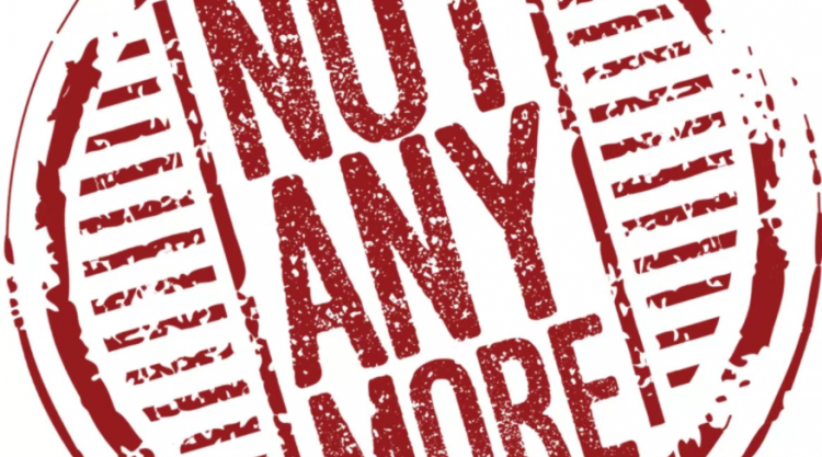 Logo for Not Any More online trianing is the words inside a circle all in red