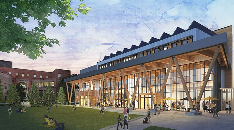 A rendering of the future Career & Student Success Center.