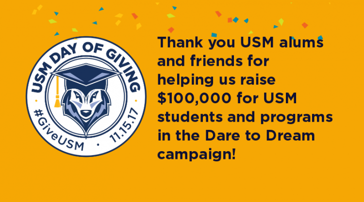 Dare to Dream Campaign success message