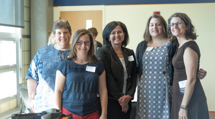 Alumni at women in leadership breakfast