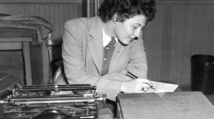 4.Madeleine Giguère was a long-time advocate for Franco-Americans and professor of sociology at USM. She was instrumental in establishing the Franco-American Collection. For more information: https://www.mainememory.net/artifact/79372