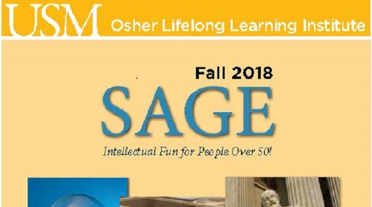 SAGE Fall 2018 Schedule