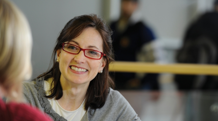 Adult female student smiling
