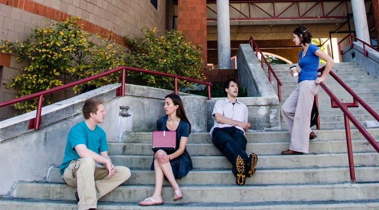 Group of students chat