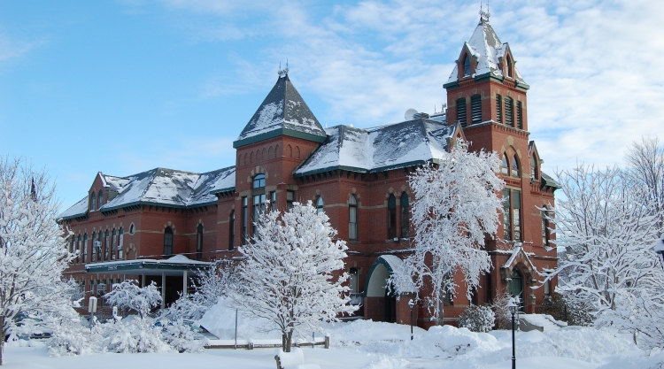 Corthell Hall in winter