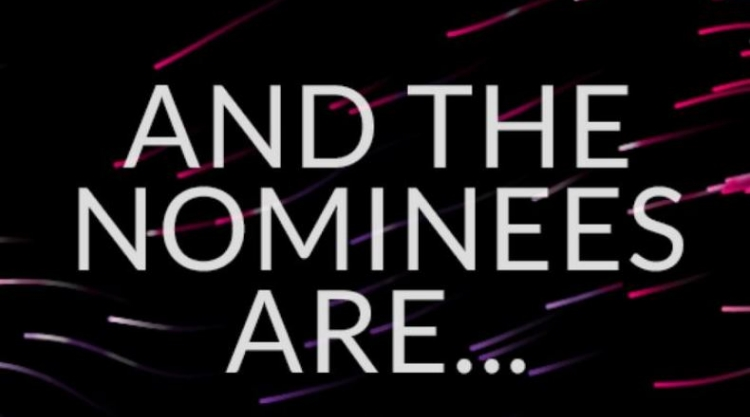 Image that says, and the nominees are