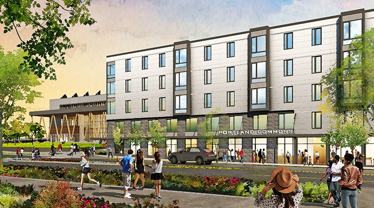Portland Commons residence hall rendering