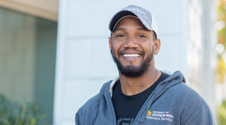 A student veteran on our Portland campus